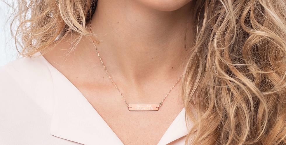 Beautiful Traveler Bar Chain Necklace