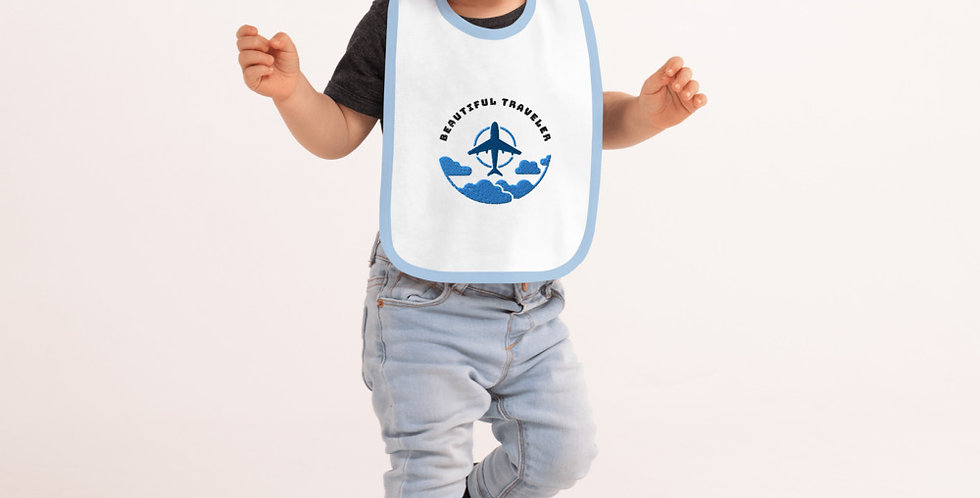 Embroidered Unisex Baby Bib