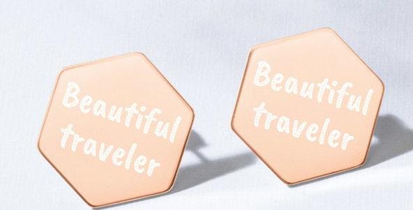 Beautiful traveler Stud Earrings