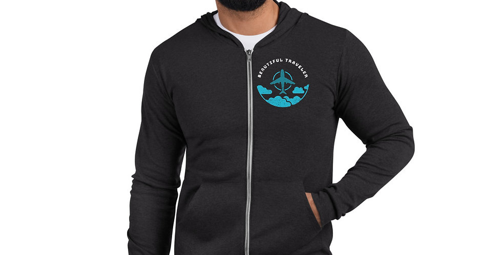 Beautiful Traveler Zip Up Hoodie