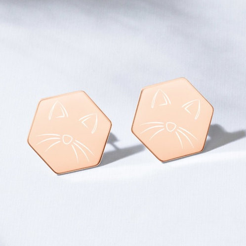 Kitty Cat Stud Earrings