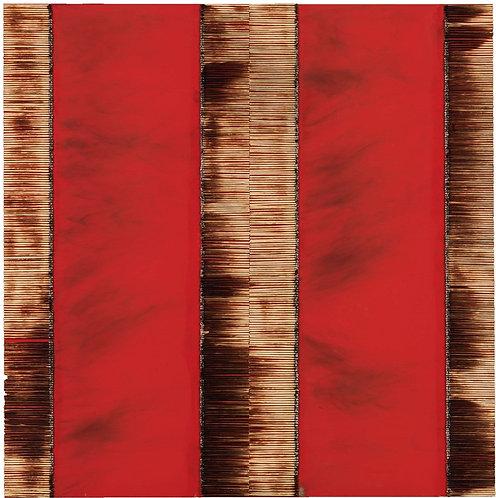 Dessin de Fau Sur Table Rouge - Bernard Aubertin