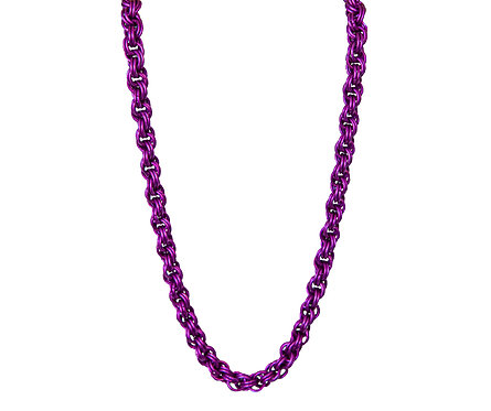 Purple Double Spiral Chain