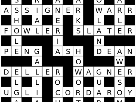 Crossword Solutions for Issue 6