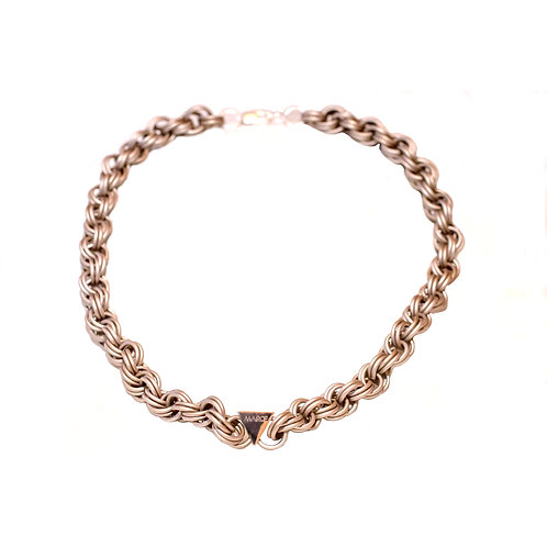 Champagne Double Spiral Necklace