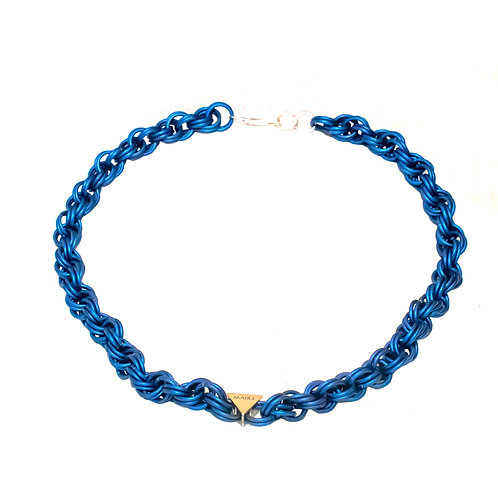 Blue Double Spiral Chain