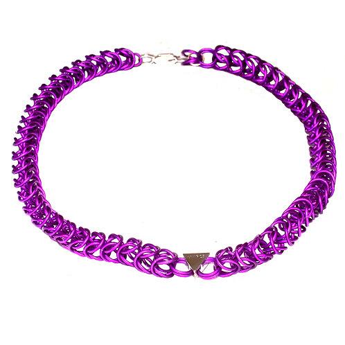 Purple Box Necklace
