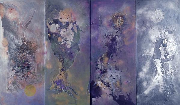 The Four Worlds I, 2002, 7'x3', Acrylic