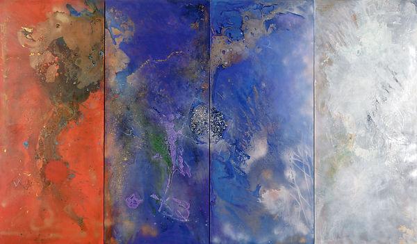 The Four Worlds III, 2002, 7'x3', Acryl