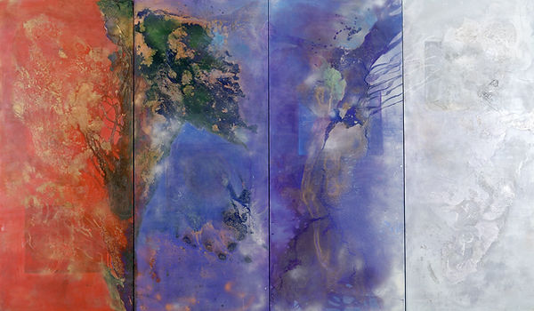 The Four Worlds IV, 2002, 7'x3', Acryli