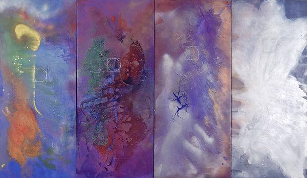 The Four Worlds II, 2002, 7'x3', Acryli