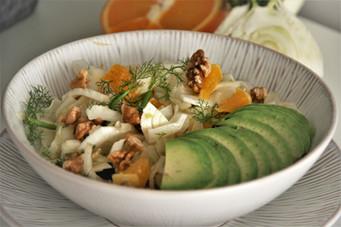 Fenchel-Orangensalat mit Walnüssen