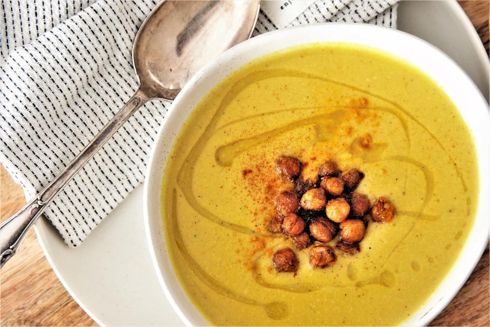 Goldene Suppe mit gerösteten Kichererbsen (Nr. 59)