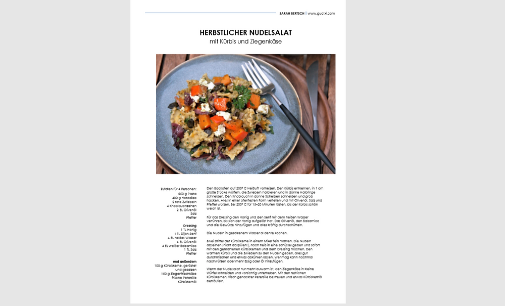 Rezept als PDF zum Download