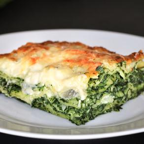 Spinatlasagne mit Gorgonzola
