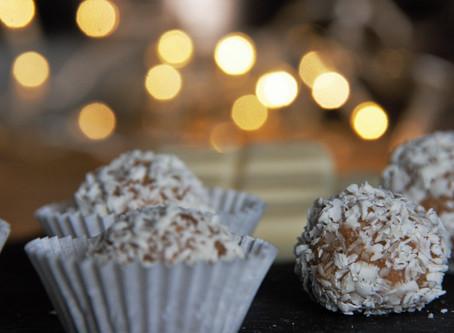 Mascarpone-Kaffee Pralinen mit weißer Schokolade