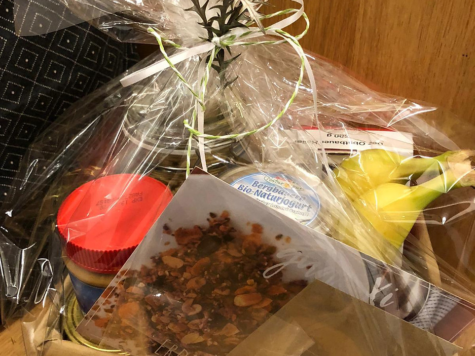 Erdnuss-Granola Geschenkbox