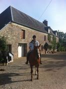 Dangy on horseback