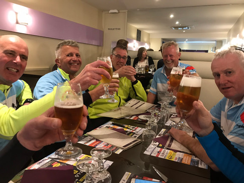 Beer & pizza at the end of Stage1