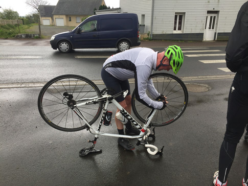 The only puncture in four days