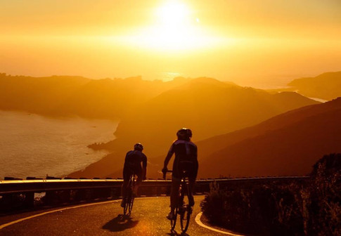 Cycling into the sunset,