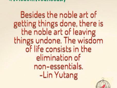 Non-essential living