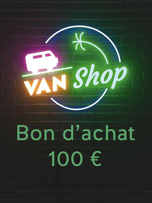 Bon d'achat 100 euros