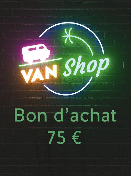 Bon d'achat 75 euros