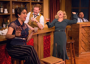 "The Duchess (blonde) in Michael Ogborn's ""Cafe Puttanesca"""