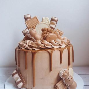 Coffee Caramel Drip Cake