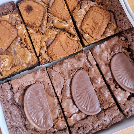 Lotus and Chocolate Orange Brownies