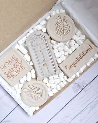 New Home Biscuits - Iced Biscuits Gift Box- New Home Gift/ Housewarming Gift