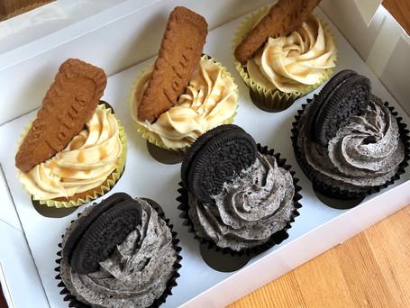 Lotus Caramel Cupcakes & Oreo Cupcakes