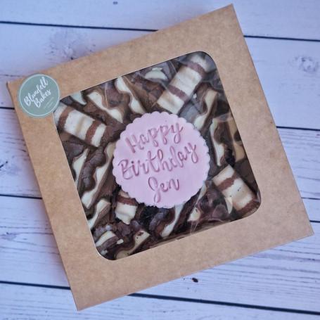 Kinder Brownie Birthday Slab