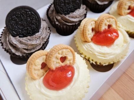 Oreo & Jammie Dodger cupcakes