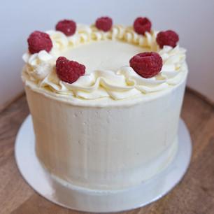 Gluten Free Vanilla & Raspberry Cake