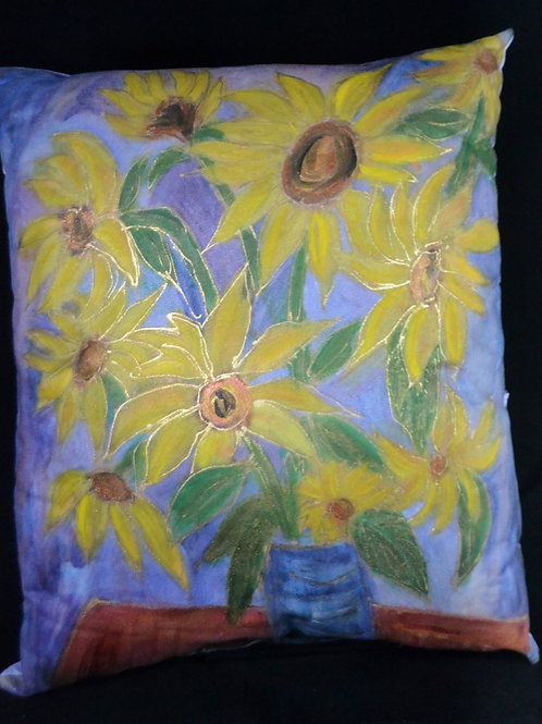 Sunflowers In a Vase 18x18