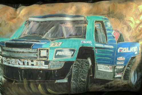 Trophy Truck  teal-2  18x22