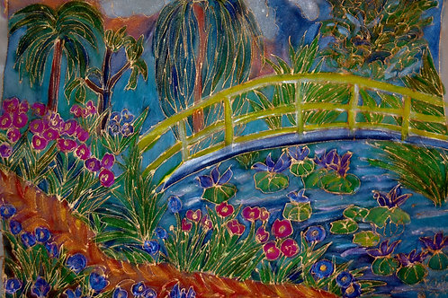 Monets Bridge Scene 14 x18