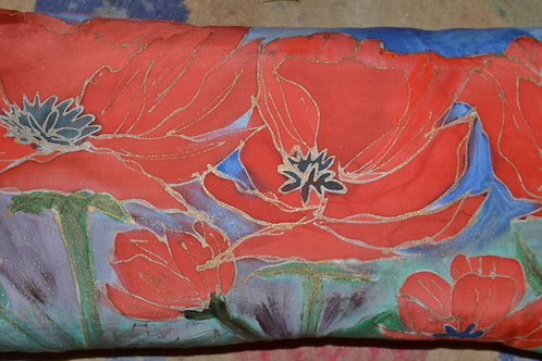 Larger  longer poppy pillow 14x24