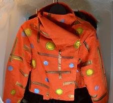 Jacket Circles with orange background.JP