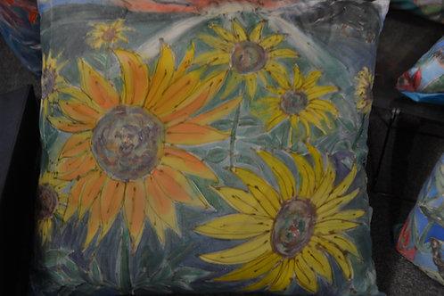 sunflowers in a field  16x16
