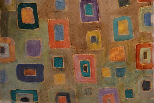 Earth tones  squares 14x18