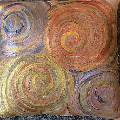 Quad Swirls Earth 18x18