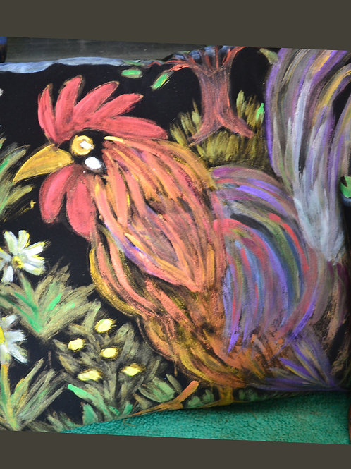 Painterly chicken  18x18