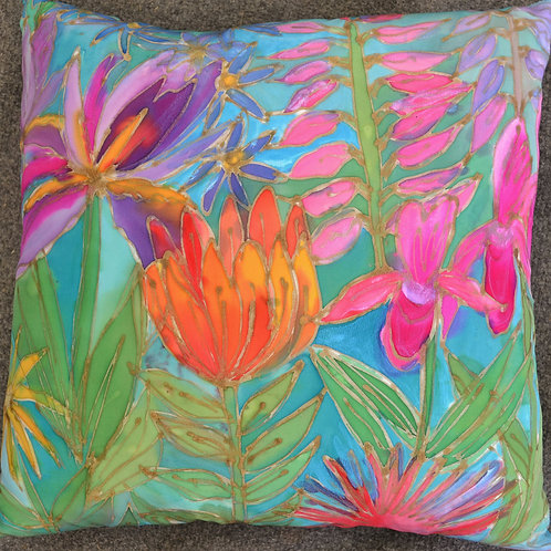 Tropical floral 1 18x18