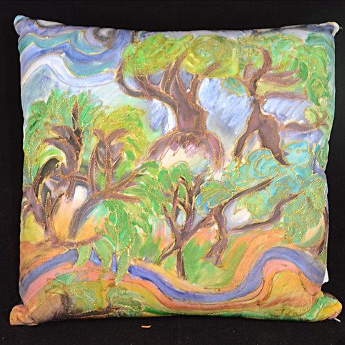 Trees V Gogh 2 18x18