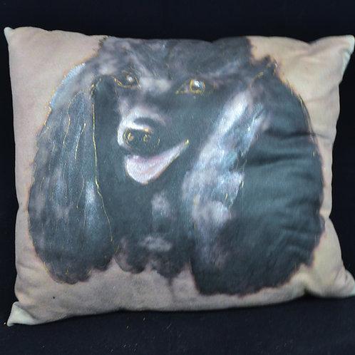 Black Poodle  1 16x16
