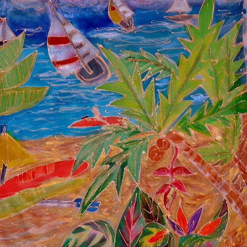 Beach Scene 1 16x16