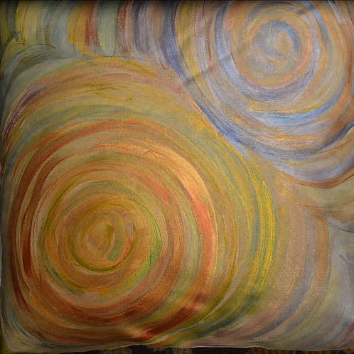 Double swirl earth 18x18